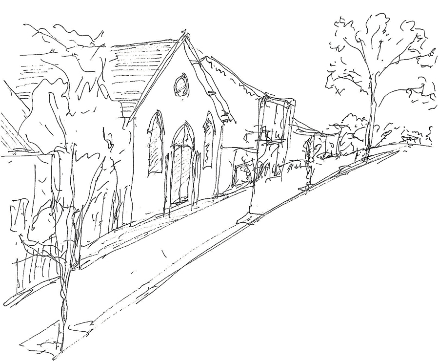 Sketch of Hall in Dickson St